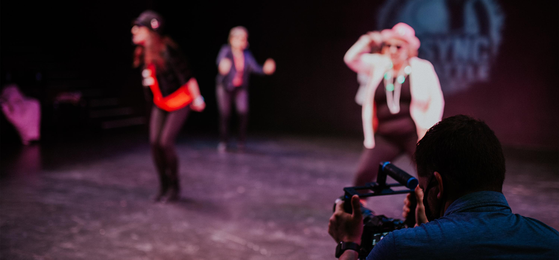 Cameraman filming a lipsync performance